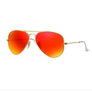 Orange Ray-Ban Aviators!